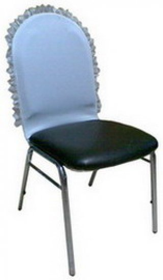ผ้าคลุมเก้าอี้ เฉพาะพนักพิงติดลูกไม้