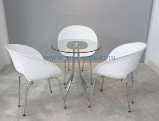 ชุดโต๊ะ Daily กลมเก้าอี้ก้นหอย