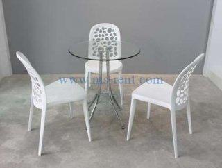 ชุดโต๊ะกลม เก้าอี้สีขาว