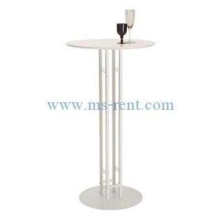 โต๊ะบาร์สูงสีขาว ท็อปพาร์ติเกิ้ล