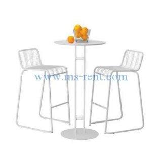 ชุดโต๊ะบาร์สูงสีขาว