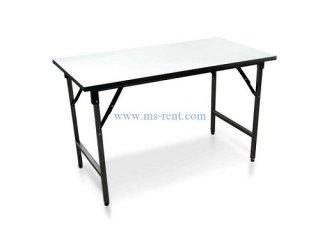 โต๊ะเหลี่ยมยาวสีขาว