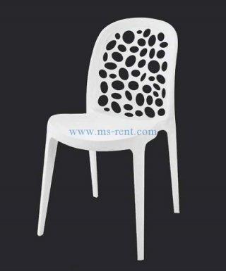 เก้าอี้ pp สีขาว