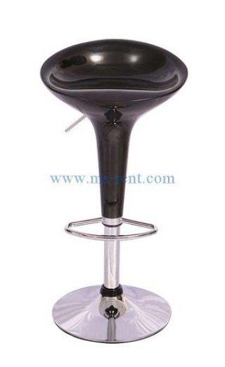 เก้าอี้สตูลบาร์ทรงถ้วยไอศครีม สีดำ