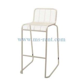 เก้าอี้สตูลบาร์ขาเหล็กสีขาว