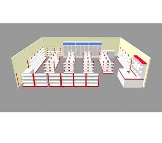 เปิดร้านมินิมาร์ท ขนาด 2 คูหา 10x8 เมตร
