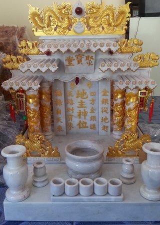 ศาลเจ้าที่ขนาด 27 นิ้ว สีขาว พ่นทอง