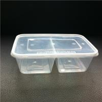 Rectangular Divided Food Container with Lid (650ml)