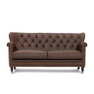 เก้าอี้โซฟาหนังสไตล์วินเทจ NEW GLASGOW