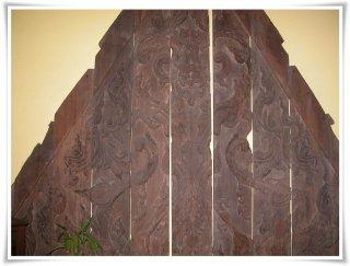 จั่วไม้สักบ้านทรงไทย