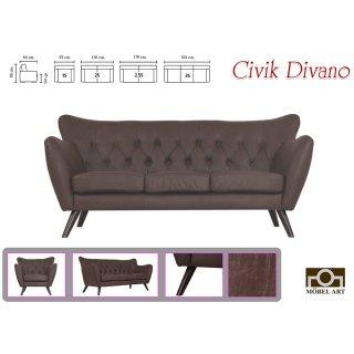 โซฟาหนังแท้อิตาลี่ Civik Divano