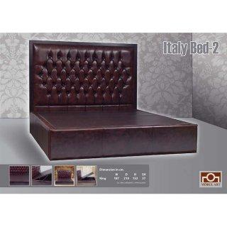 เตียงนอนโซฟาหนังแท้ ITALY BED II
