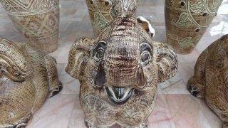 รูปปั้นหินทราย ช้าง