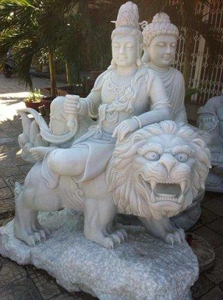 เจ้าแม่กวนอิม ประทับสิงโต ขนาด สูง 120 ซม.