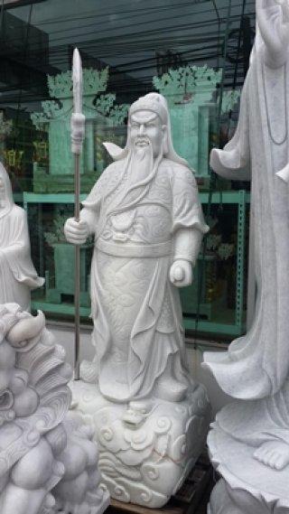 เทพเจ้ากวนอู หินอ่อน สูง 220 ม.
