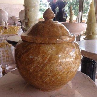 ผอบหินอ่อนหยกน้ำผึ้ง สูง 30 ซม.