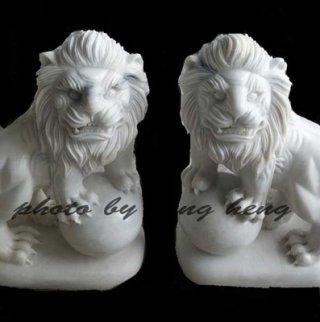 สิงโตหินอ่อนแกะสลัก สูง 80 ซม.