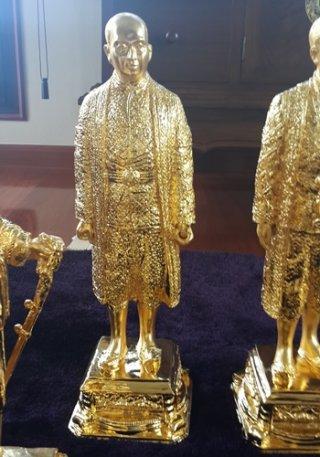รูปหล่อทองเหลืองรัชกาลที่ 2 สูง 50 ซม.