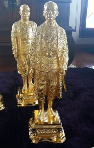 รูปหล่อทองเหลืองรัชกาลที่ 4 สูง 50 ซม.