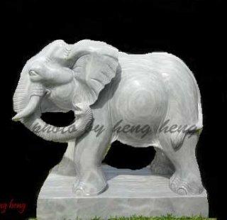 ช้าง มงคล หินอ่อน สูง 80 ซม.