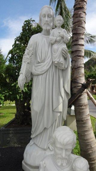 พระเยซูคริสต์ หินอ่อนแกะสลัก สูง 1.50 เมตร