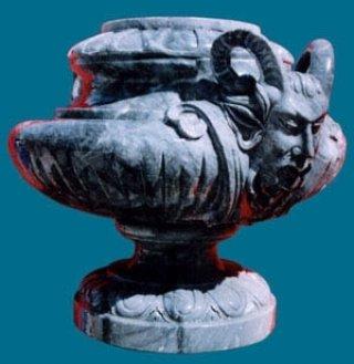 กระถางธูปเดวิลหินอ่อนทรงโรมัน สูง 100 ซม.