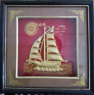 กรอบรูปทองเค เรือใบนำโชค