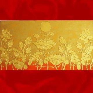 ภาพวาดดอกบัวทอง