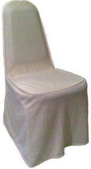 ผ้าคลุมเก้าอี้จัดเลี้ยง กุ้นขอบพนักพิง