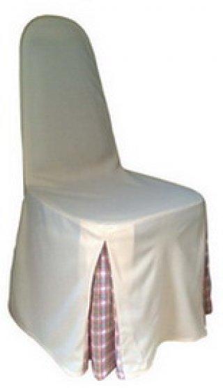 ผ้าคลุมทวิชมุม 2 มุม สีขาว