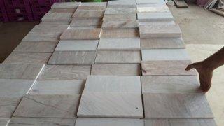 หินอ่อนแผ่น ชมพูพรานกระต่าย ขนาด 30 x 30 ซม.