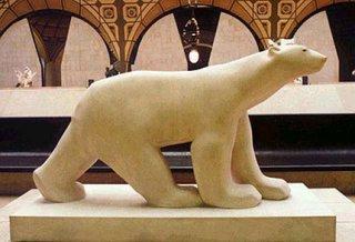 หมีขั่วโลก แกะสลักหินอ่อน