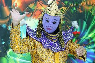 การแสดงโขนไทยเปลี่ยนหน้ากาก