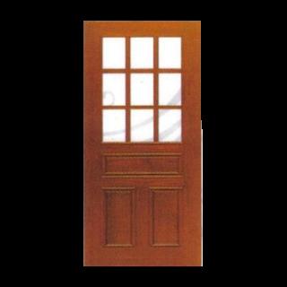 บานไม้ครึ่งฟักครึ่งกระจก