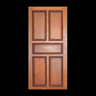 ประตูไม้สัก ฟักไม่มีแกะลาย
