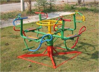 เครื่องเล่นสนามเด็ก ม้าหมุน 4 ที่