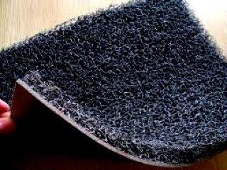 พรมดักฝุ่นไวนิล สีดำ