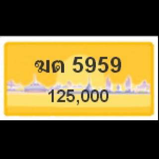 ทะเบียนรถสวยเลขสลับ เลข 5959