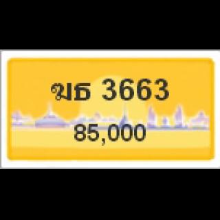 ทะเบียนรถสวยเลขหาบ เลข 3663