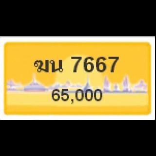ทะเบียนรถสวยเลขหาบ เลข 7667