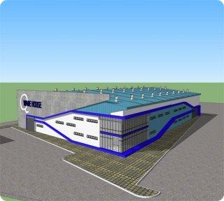 โรงงานสำเร็จรูป ขนาด 70 x 100 เมตร