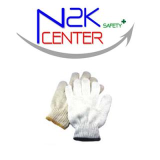 ถุงมือผ้าถักคอตตอนเสริมจุด PVC กันลื่น
