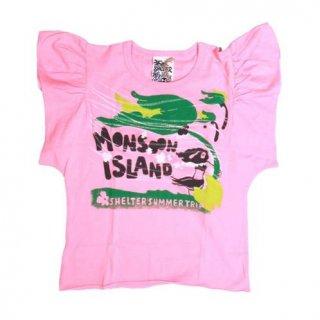 เสื้อกล้ามเด็กสีชมพูแขนระบาย