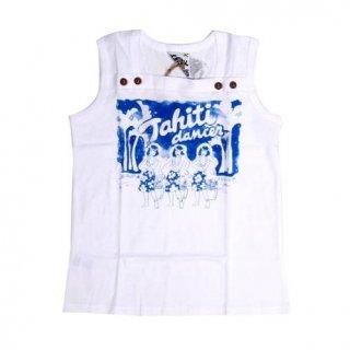 เสื้อกล้ามเด็กสีขาวแต่งกระดุม