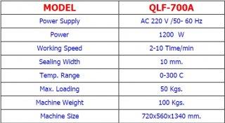 เครื่องซีลปากถุงแนวตั้ง QLF700A