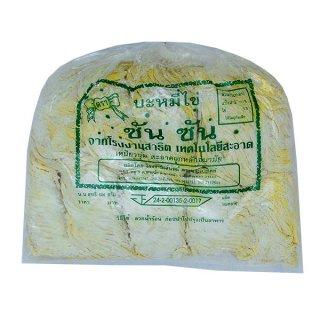 เส้นบะหมี่เหลืองไข่ ตราซันซัน (สีเขียว)