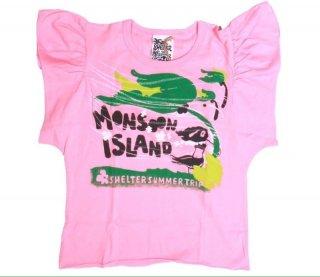 เสื้อยืดเด็ก ไซส์ 4-5 ปี แขนสั้นสีชมพูพิมพ์ลาย