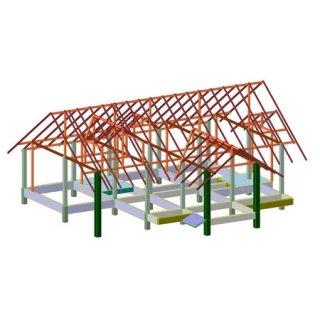 รับออกแบบโครงสร้างบ้านพักอาศัย