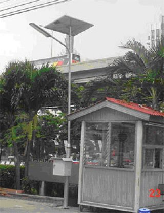 แผง Solar-Fluorescent 18W street light set