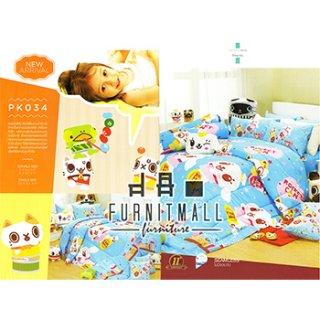 ชุดผ้าปูที่นอน SATIN ลายการ์ตูน รุ่น PK034